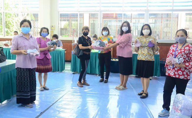 KKU Family รวมพลังชาว มข. จัดทำหน้ากากผ้ามอบโรงพยาบาลศรีนครินทร์