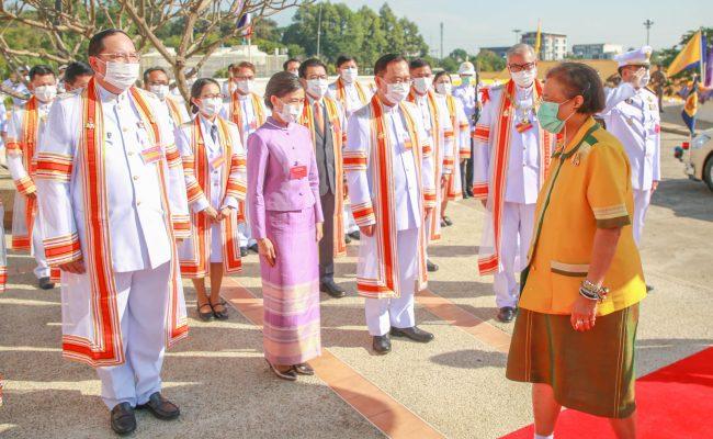 สมเด็จพระกนิษฐาธิราชเจ้า กรมสมเด็จพระเทพรัตนราชสุดา ฯ สยามบรมราชกุมารี พระราชทานปริญญาบัตรผู้สำเร็จการศึกษา มหาวิทยาลัยขอนแก่น ประจำปี 2563