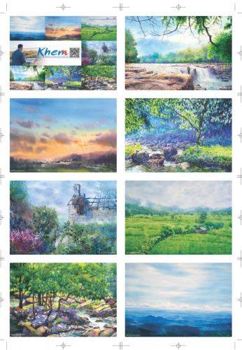 มี Postcards มอบให้เป็นของที่ระลึกสำหรับในวันเปิดนิทรรศการ